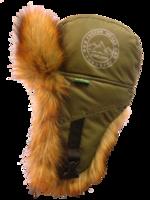 Шапка-ушанка NordKapp Oster Canadian Fox khaki арт. 536